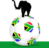 Soccer ball south Africa Stock Photography
