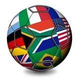 Soccer Ball South Africa 2010. A Soccer Ball for South Africa 2010 with Flags Stock Images