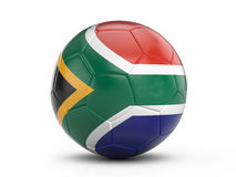 Soccer ball South Africa flag Royalty Free Stock Image