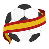 Soccer ball with spain flag Stock Images