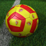 Soccer Ball with Spanish Flag Royalty Free Stock Image
