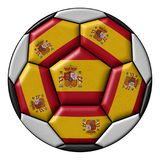 Soccer ball with Spanish flag Stock Image