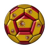Soccer ball with Spanish flag Stock Photography