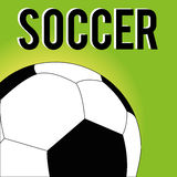 Soccer. Ball on special green background Royalty Free Stock Photos