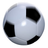Soccer ball at speed Royalty Free Stock Photo