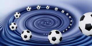 Soccer ball spiral. A spiral design of soccer balls Royalty Free Stock Photo