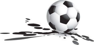 Soccer ball splat Stock Images