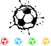 Soccer ball splat Stock Images