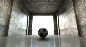 Soccer Ball Sports Stadium Tunnel Stock Images