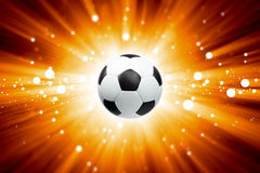 Soccer ball, spotlights Stock Photos