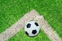 Soccer ball on the stadium Royalty Free Stock Images