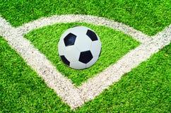 Soccer ball on the stadium Royalty Free Stock Photos
