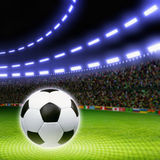 Soccer ball, stadium Royalty Free Stock Photo