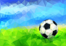 Soccer Ball in Stadium. Vector Royalty Free Stock Images