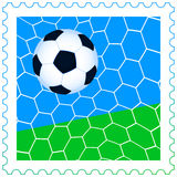 Soccer ball on the stamp Royalty Free Stock Photography