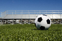 Soccer ball with stands Stock Image