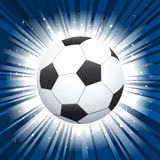 Soccer ball star burst background Royalty Free Stock Image