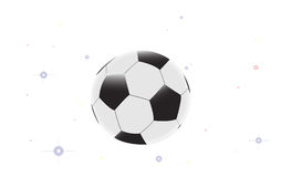 Soccer ball with star on the white background. Illustration of soccer ball with star on the white background Royalty Free Illustration