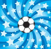 Soccer ball on stars background Royalty Free Stock Photography