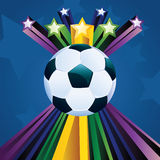 Soccer Ball with Stars royalty free illustration