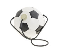 Soccer ball with stethoscope. Stock Photos