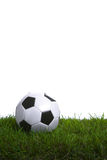 Soccer ball in the studio Royalty Free Stock Photos