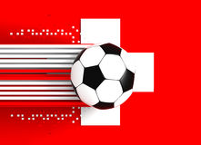 Soccer ball on Swiss flag Royalty Free Stock Image