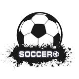Soccer ball a symbol in style grunge Royalty Free Stock Photo