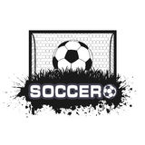 Soccer ball a symbol in style grunge Royalty Free Stock Images