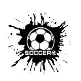 Soccer ball a symbol in style grunge Stock Image