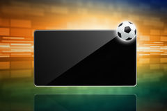 Soccer ball, tablet computer Royalty Free Stock Photos