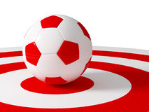 Soccer ball target Stock Photography