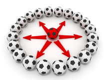 Soccer ball teamwork Stock Photography