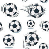 Soccer ball texture. Football set pattern. Realistic graphic illustration. Background Stock Images