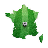 Soccer ball textured France map Royalty Free Stock Photos