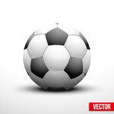 Soccer ball in the traditional two-tone colors Royalty Free Stock Photo