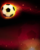 Soccer ball and trail of fire Stock Photo