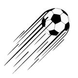 Soccer ball  with trail Royalty Free Stock Images
