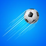 Soccer ball  with trail Royalty Free Stock Photography