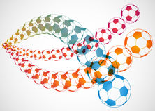 Soccer Ball Trajectory Stock Image