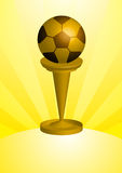 Soccer ball Trophy Stock Images