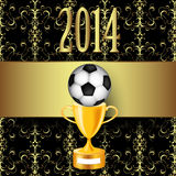 Soccer ball and trophy Royalty Free Stock Photography