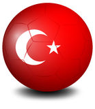 A soccer ball from Turkey Royalty Free Stock Photography