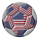 Soccer ball with United States flag Stock Image