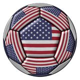 Soccer Ball with United States flag Royalty Free Stock Photography