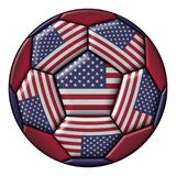 Soccer Ball with United States flag Royalty Free Stock Photos