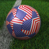 Soccer Ball with USA Flag Stock Images