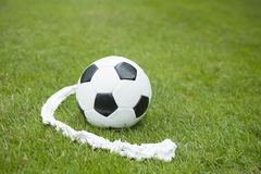 Soccer ball and vanishing spray Stock Photo