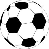 Soccer ball vector Stock Photos