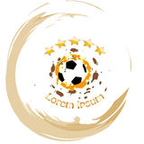 Soccer ball vector abstract illustration Stock Photo